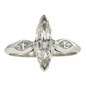 Vintage Marquise Engagement Ring, 0.94ct.