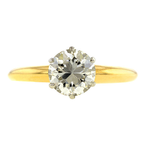 Vintage Tiffany & Co. Engagement Ring, Circular Brilliant 1.02ct.