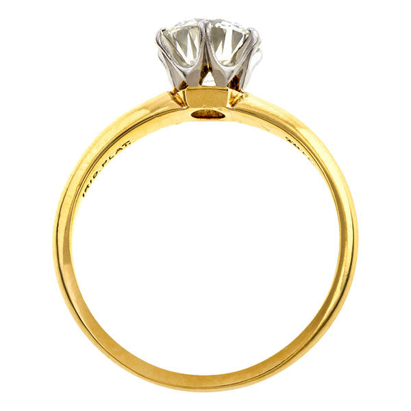 Vintage Tiffany & Co. Solitaire Engagement Ring, Circular Brilliant 1.02ct.