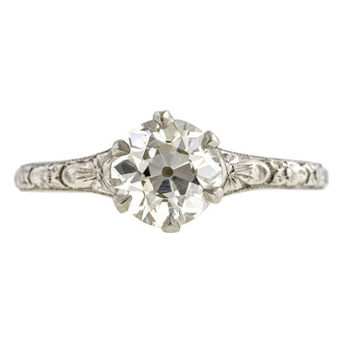 Vintage Engagement Ring, Old Euro 1.06ct.