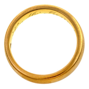 Antique Peacock Yellow Gold Wedding Band
