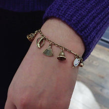 Vintage Charm Bracelet with Movable Charms