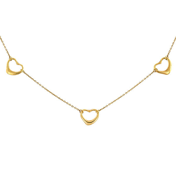 Vintage Tiffany & Co. Triple Open Heart Necklace::