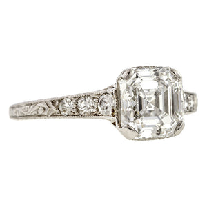 Vintage Tiffany & Co. Engagement Ring, Asscher cut 1.70ct.