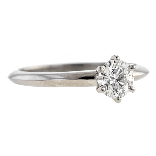 Vintage Tiffany & Co. Engagement Ring, RBC 0.56ct