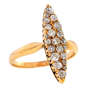 Antique Diamond Navette Ring, sold by Doyle & Doyle an antique and vintage jewelry store.