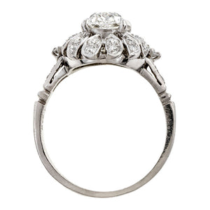 Vintage ring: a Platinum Cushion Modified Brilliant Cut Diamond 1.52ct Engagement Ring sold by Doyle & Doyle vintage and antique jewelry boutique.