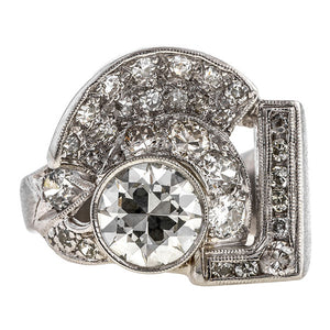 Retro Diamond Ring, RBC 1.42ct.