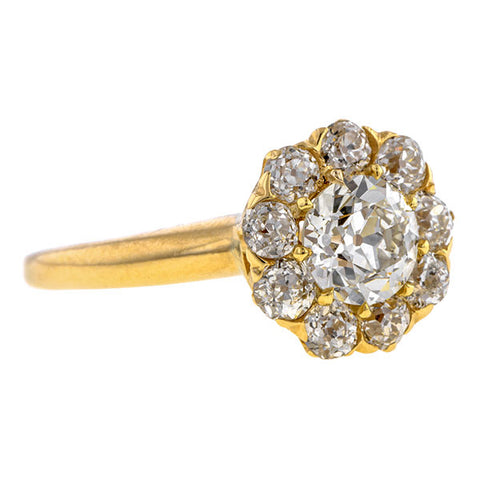 Antique Engagement Ring, Old European, sold by Doyle & Doyle an antique and vintage jewelry store.
