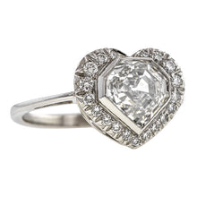 Estate Diamond Heart Ring