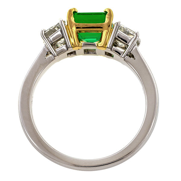 Estate Emerald & Diamond Ring, 1.35ct.