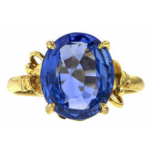 Estate Sapphire Ring, Oval 5.80ct.