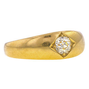 Antique Victorian ring: a Yellow Gold Old Mine Cut Diamond Engagement Ring sold by Doyle & Doyle vintage and antique jewelry boutique.