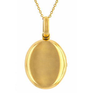 Victorian locket: 18k Yellow Gold Oval Locket Pendant Necklace With Original Girl Picture And Lock of Hair sold by Doyle & Doyle vintage and antique jewelry boutique.