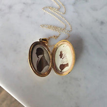 Victorian Oval Engraved Locket Necklace