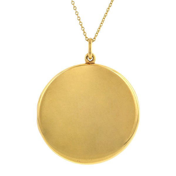 Edwardian Round Locket Pendant Necklace