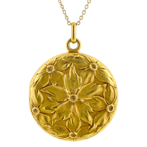 Art Nouveau Flower Locket