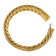 Vintage Link Bracelet, a woven link bracelet in 18k yellow gold, sold by Doyle & Doyle vintage and antique jewelry boutique.