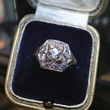 Art Deco Engagement Ring, Old Euro 0.72ct., sold by Doyle & Doyle vintage and antique jewelry boutique.