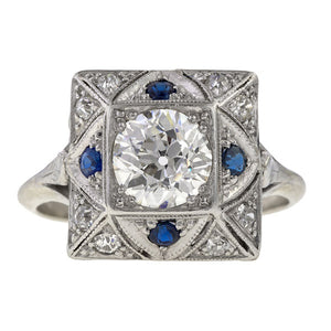Art Deco Engagement Ring, Old European cut