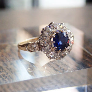 Antique Sapphire and Diamond Ring, 0.90ct