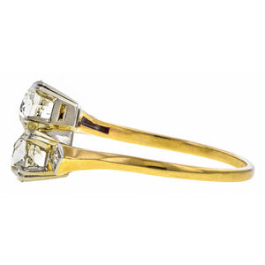 Vintage ring: a Yellow Gold And White Gold Toe Et Moi Engagement Ring sold by Doyle & Doyle vintage and antique jewelry boutique.