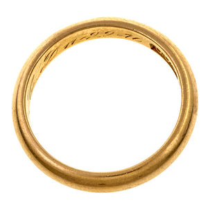 Vintage ring: a Yellow Gold Half Round Wedding Band sold by Doyle & Doyle vintage and antique jewelry boutique.