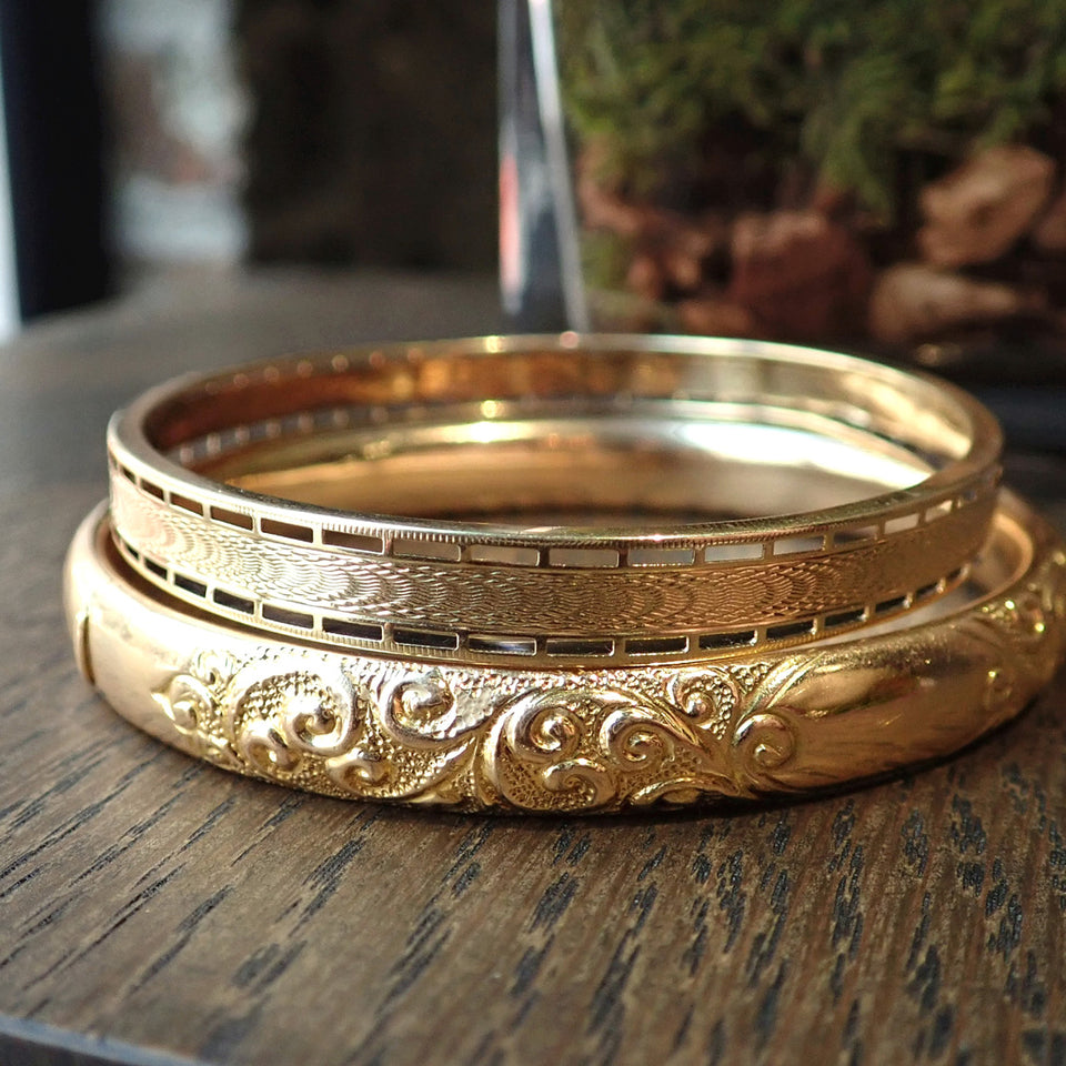 Edwardian Bangle Bracelet, Gold