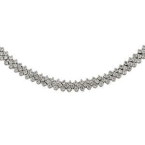 Estate necklace: a Platinum Round Brilliant Cut Riviera Necklace sold by Doyle & Doyle vintage and antique jewelry boutique.