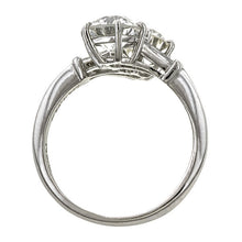 Vintage ring: a Platinum Toi Et Moi Old European Cut Diamond Engagement Ring  sold by Doyle & Doyle vintage and antique jewelry boutique.