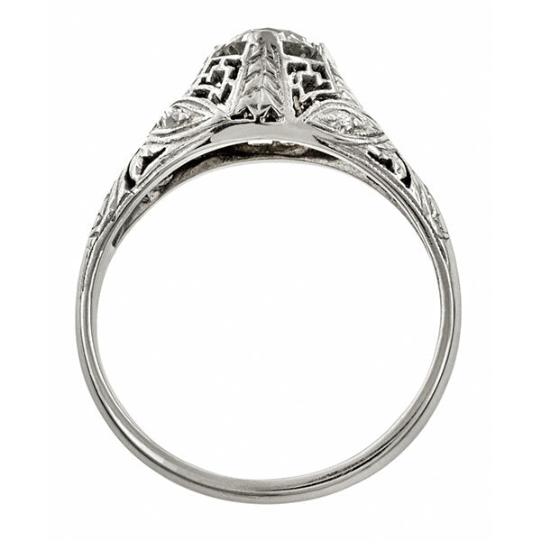 Vintage ring: a Platinum Old European Cut Engagement Ring sold by Doyle & Doyle vintage and antique jewelry boutique.