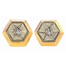 Vintage Two Toned Diamond Earrings sold by Doyle & Doyle vintage and antique jewelry boutique.