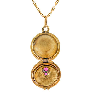 Antique Spider Locket sold by Doyle & Doyle vintage and antique jewelry boutique.
