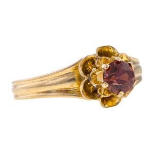 Victorian ring: a Yellow Gold Garnet Ring sold by Doyle & Doyle vintage and antique jewelry boutique.