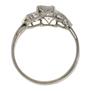 Art Deco ring: a Platinum Old European Cut Diamond Ring sold by Doyle & Doyle vintage and antique jewelry boutique.