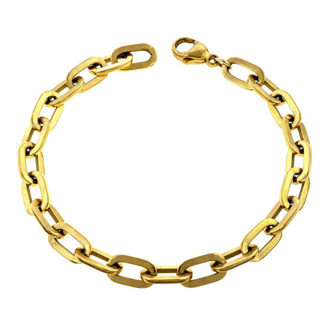 Trombone Link Bracelet, Heirloom by Doyle & Doyle sold by Doyle & Doyle an antique and vintage jewelry boutique.