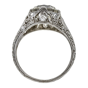 Vintage Engagement Ring, Old Euro 2.50. sold by Doyle & Doyle vintage and antique jewelry boutique.