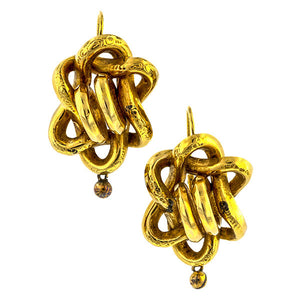 Victorian Interwoven Ropes Earrings