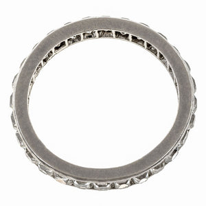 Vintage Tiffany & Co French Cut Eternity Band sold by Doyle & Doyle vintage and antique jewelry boutique.