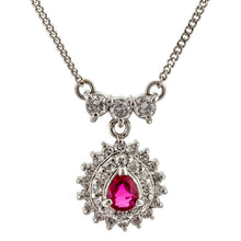 Ruby & Diamond Pendant Necklace