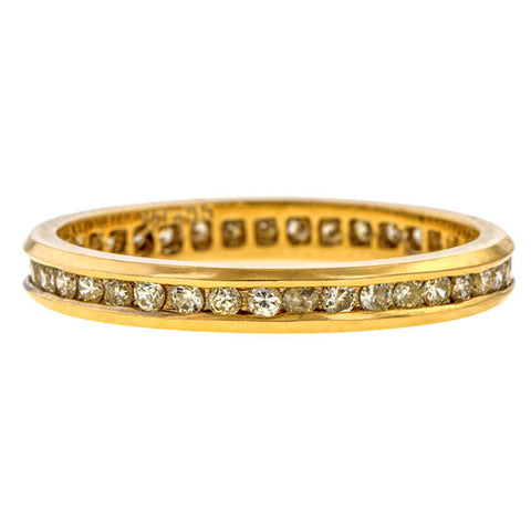 Vintage Diamond Eternity Wedding Band Ring sold by Doyle & Doyle vintage and antique jewelry boutique.