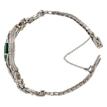 Art Deco Emerald & Diamond Bracelet