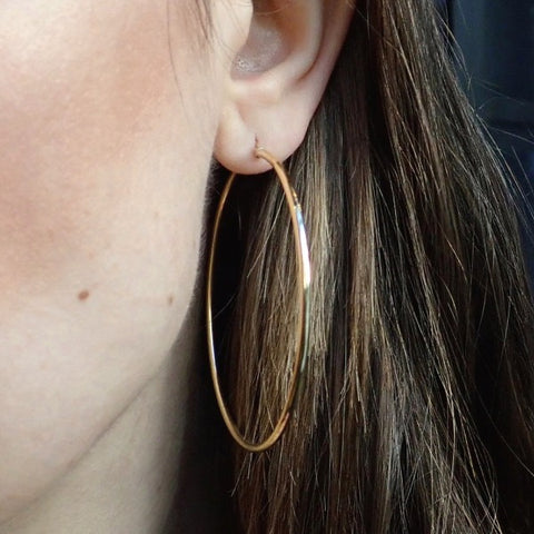 Classic Gold Hoop Earrings from Doyle & Doyle