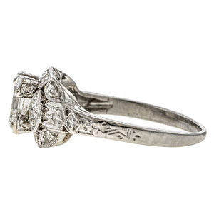 Art Deco Engagement Ring, Asscher 1.18ct. sold by Doyle & Doyle vintage and antique jewelry boutique.