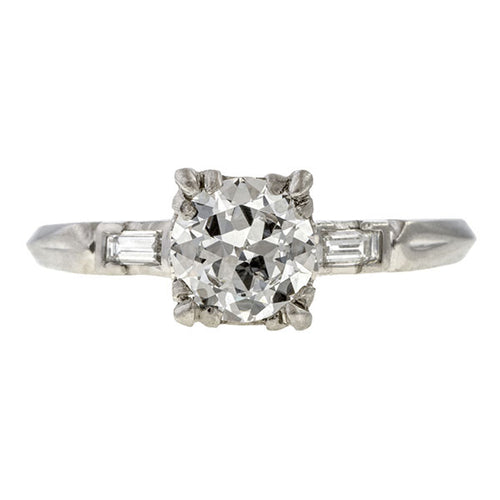 Vintage Engagement Ring, RBC 0.78ct. sold by Doyle & Doyle vintage and antique jewelry boutique.
