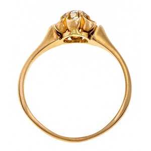 Antique Solitaire Ring, Old Mine 0.49ct. sold by Doyle & Doyle vintage and antique jewelry boutique.