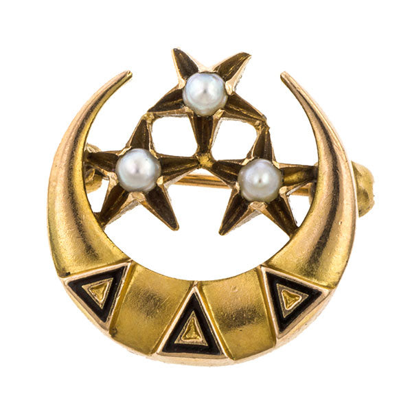 Antique Tri Delta Sorority Pin sold by Doyle & Doyle vintage and antique jewelry boutique.