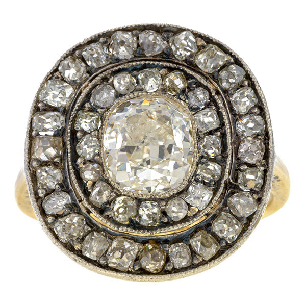 Antique Engagement Ring, Cushion cut 2.03ct. sold by Doyle & Doyle vintage and antique jewelry boutique.
