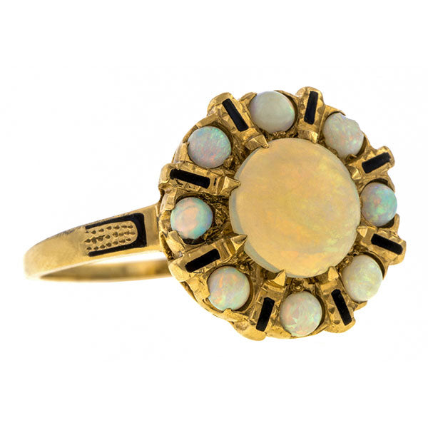 Vintage Opal Cluster Ring sold by Doyle & Doyle vintage and antique jewelry boutique.