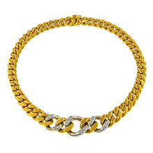 Vintage Diamond Set Cuban Link Necklace sold by Doyle & Doyle vintage and antique jewelry boutique.